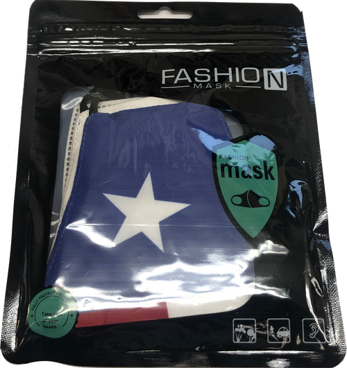 Texas Flag Design Face Mask with PM2.5 Filter Insert