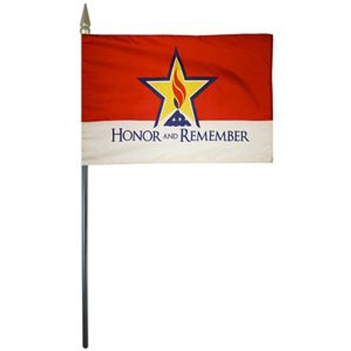 "Honor and Remember 4"" X 6"" Handheld Flag Set (12)"