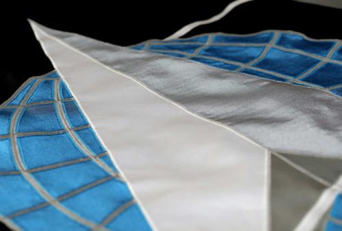 """United States Space Force Flag, Appliqued Nylon with Pole Hem & Platinum Fringe , size 4'4"""" x 5'6"""", M999-104054 (Open Market)"""