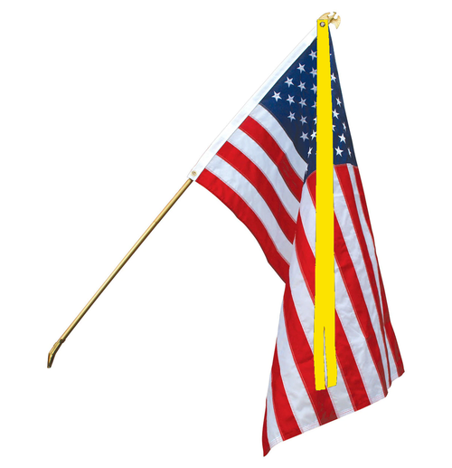 """Military Support Ribbon for 3' X 5' Flags """"Support our Troops"""", 3"""" X 10' Double Style"""