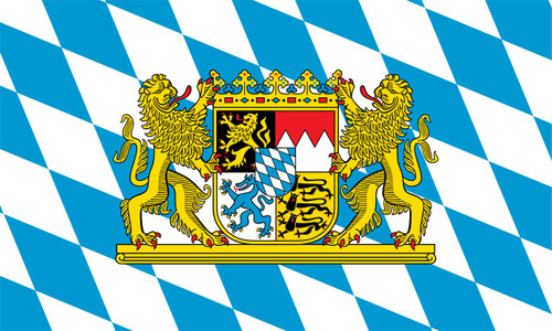 Bavaria with Lions Outdoor Flag Nylon