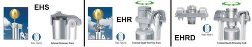 External Halyard Aluminum Flagpoles (45' - 80') (Stationary, Revolving, & Double Revolving)