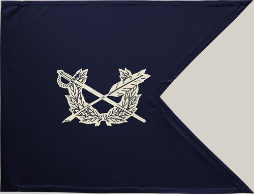 "Judge Advocate General Guidon Flag, Nylon PoleHem with Swallowtail, Size 20"" x 27.75"""
