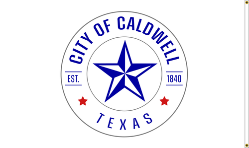 City of Caldwell Flag, Printed Nylon, Double Sided, Size 5' X 8' with Header and Grommets, Reverse