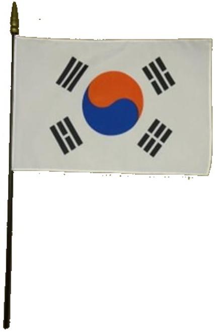 """South Korea Stick Flag 8""""x12"""",  Empire Brand"""