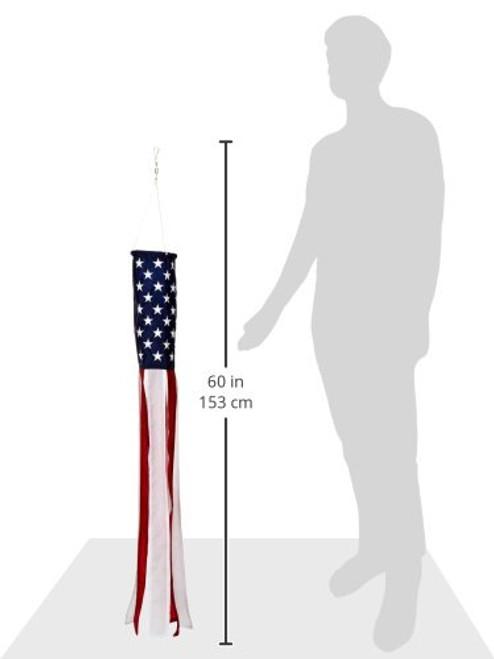 "50 Star American Flag Windsock 5'X36"""