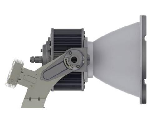 Side View of Above Ground LED Flagpole Light, 600 Watt, AGLEDE05