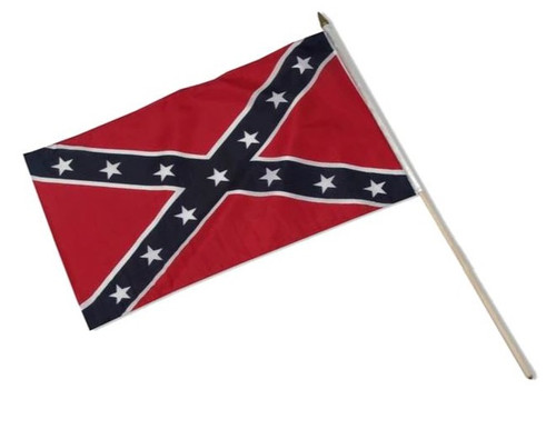 "Confederate Stick Flags 12"" X 18"" (Set of 12), HHConfederateSet12x18"