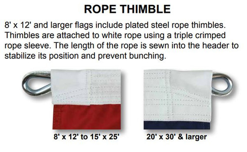 American Flag, Extra Tough, 15ft x 25ft, USET-15X25