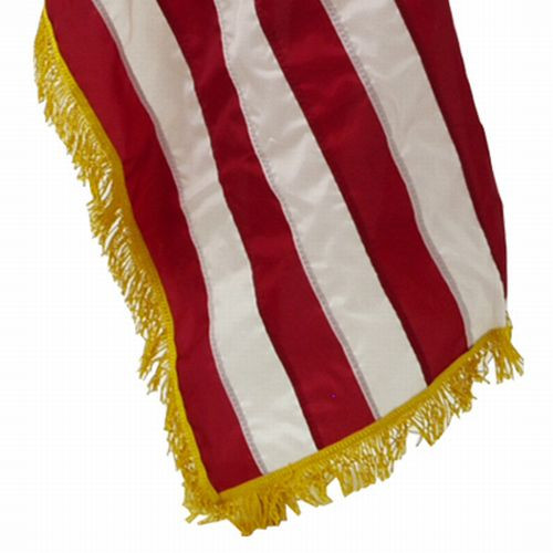 Perma-Nyl 3'x5'8 3/8in Nylon Indoor U.S. Flag with Polehem Fringe, GSP6486