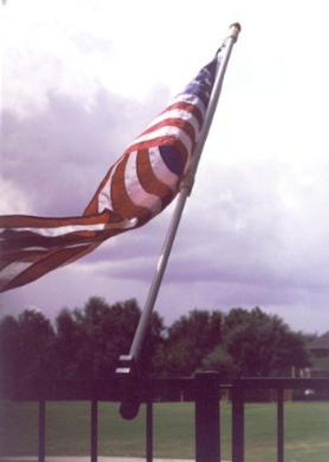 6' Rail Mount Flag Pole