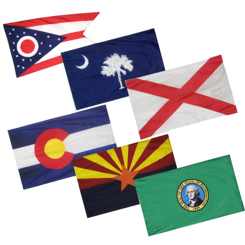 Flags - State & U.S. Territory Flags - Outdoor 50 States Flag Sets on all 50 flags, gallery of sovereign-state flags, midwest state flags, world map with flags, all us flags, official state flags, south west region state flags, all state flags, violent lips flags, american state flags, german state flags, southern state flags, australian state flags, country flags, caribbean flags, us state flags, individual state flags, france state flags, color of state flags,
