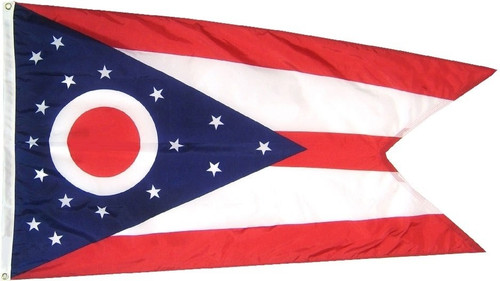 Ohio State Flag, Extra Tough, 3ft X 5ft, OHET3X5
