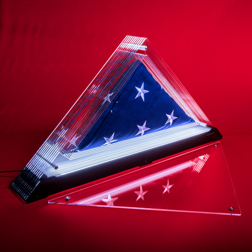 "Living Patriot Spirit Prism (for a 5'x9'5"" cotton interment flag)"