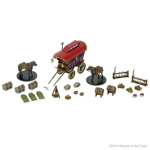 Terrain/Scenery: Icons of the Realms: Adventurer's Camp Premium Figure