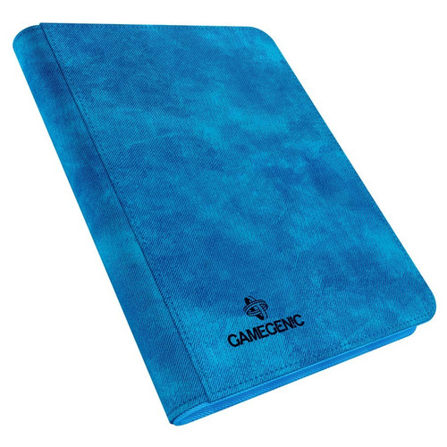 Card Binders: Blue Zip-Up Album 8-Pocket
