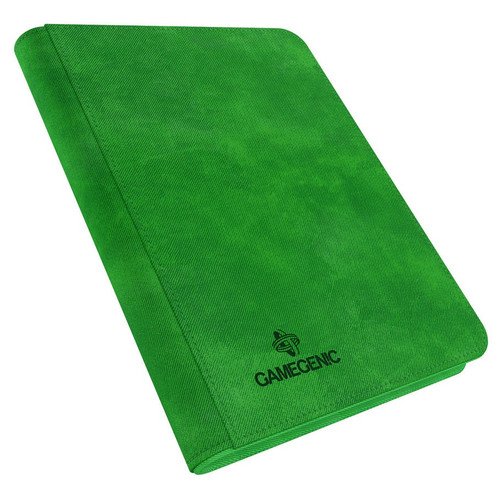 Card Binders: Green Zip-Up Album 8-Pocket