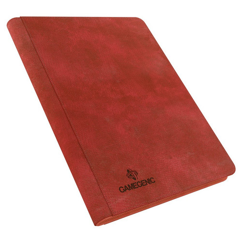 Card Binders: Red Zip-Up Album 18-Pocket