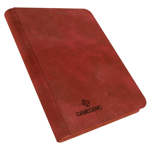 Card Binders: Red Zip-Up Album 8-Pocket