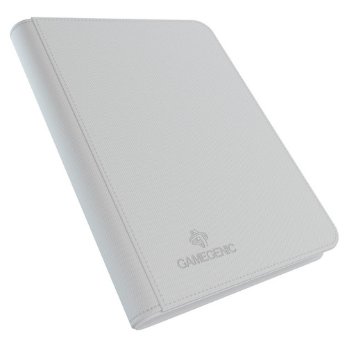 Card Binders: White Zip-Up Album 8-Pocket