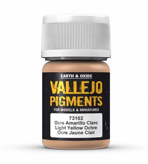 Paint: Vallejo - Pigments Light Yellow Ochre (30ml)