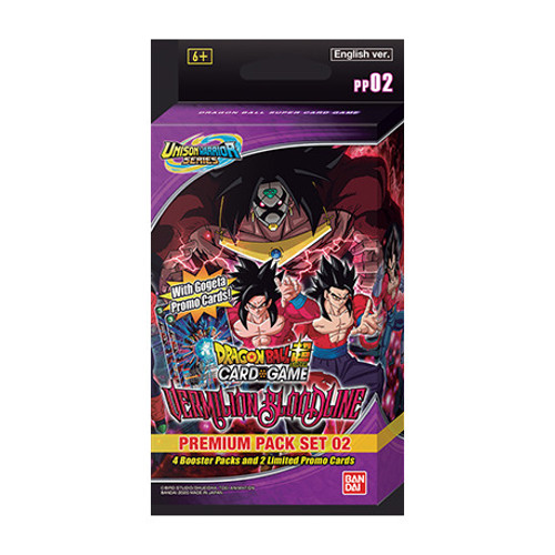 DragonBall Super: Boosters and Booster Boxes - DBS: Vermilion Bloodline Premium Pack - Unison Warriors Set 2