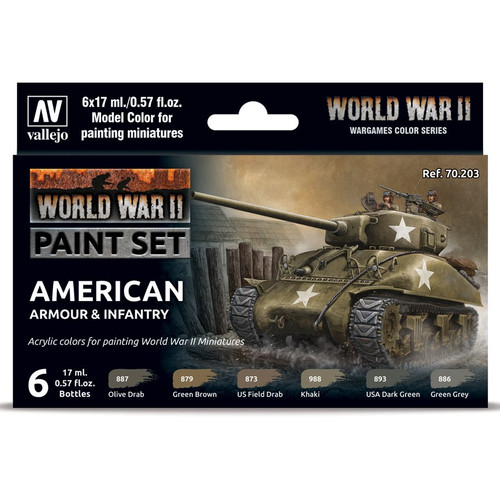 Paint: Vallejo - MC: WWII:Set: American Armour & Infantry