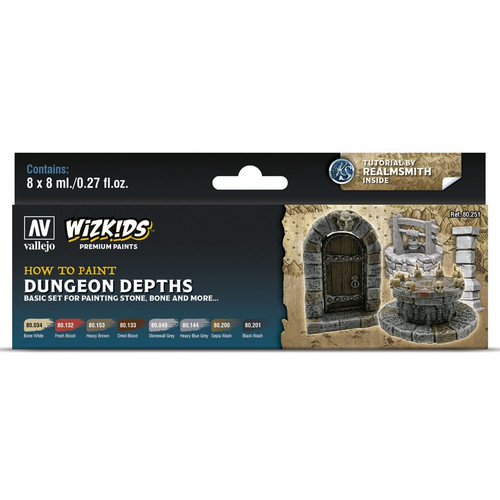 Paint: Vallejo - Paint Sets WizKids Premium Paints: Dungeon Depths
