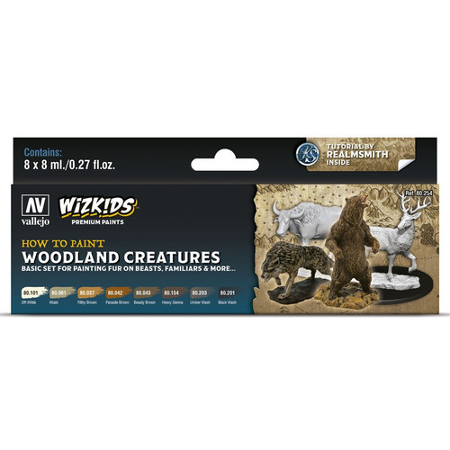 Paint: Vallejo - Paint Sets WizKids Premium Paints: Woodland Creatures