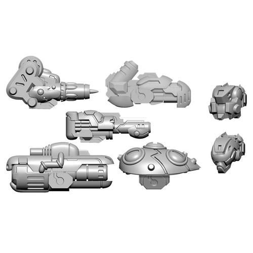 Warcaster: Neo-Mechanika: Aeternus Continuum - Scourge B Weapon Pack (Aeternus Continuum)