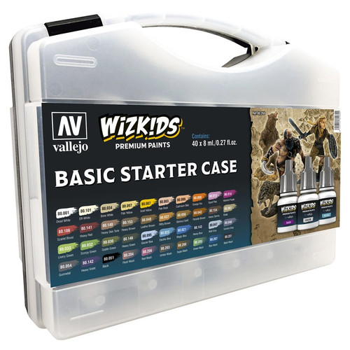 Paint: Vallejo - Paint Sets WizKids Premium Paints: Basic Starter Case