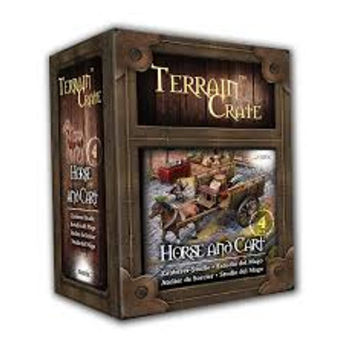 RPG Miniatures: Environment and Scenery - Terrain Crate: Horse and Cart