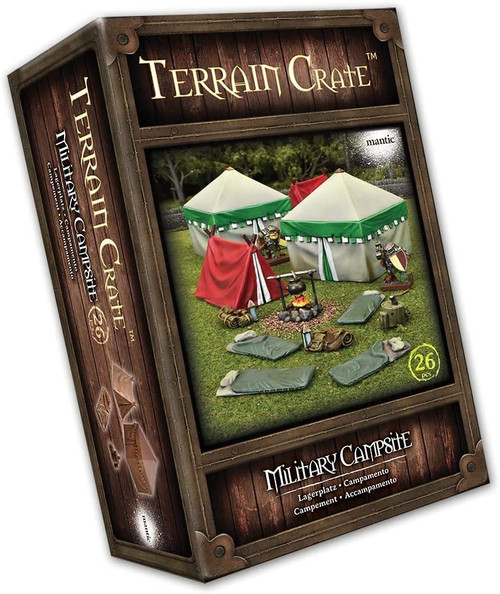 RPG Miniatures: Environment and Scenery - Terrain Crate: Military Campsite