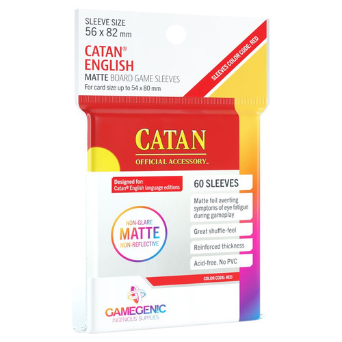 Board Games: Catan - Catan Red Matte Sleeves (60)