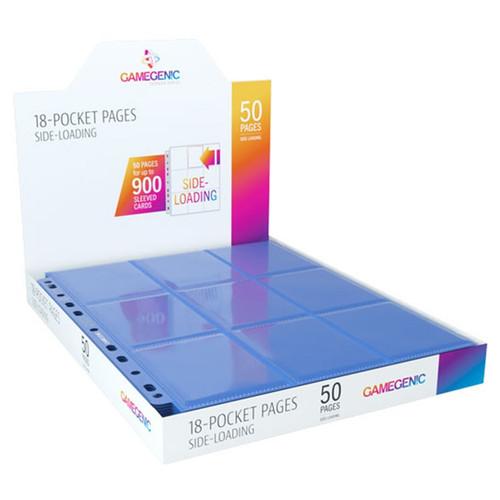 Card Binders: Blue Sideloading 18-Pocket Pages (50)