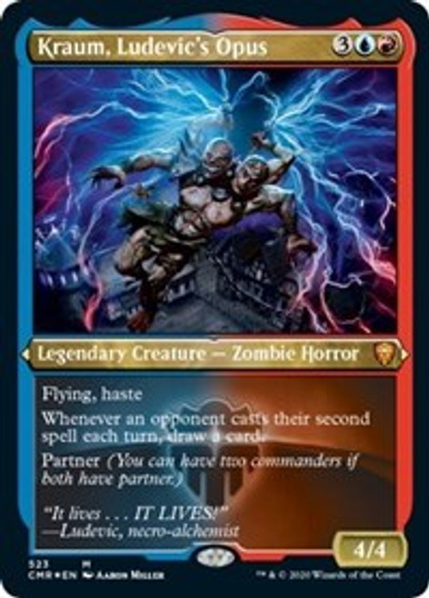 Kraum, Ludevic's Opus (Foil Etched) [Foil] - Commander Legends
