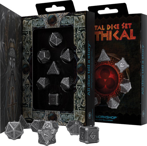 Dice and Gaming Accessories Polyhedral RPG Sets: Metal Dice Set: Mythical (7)