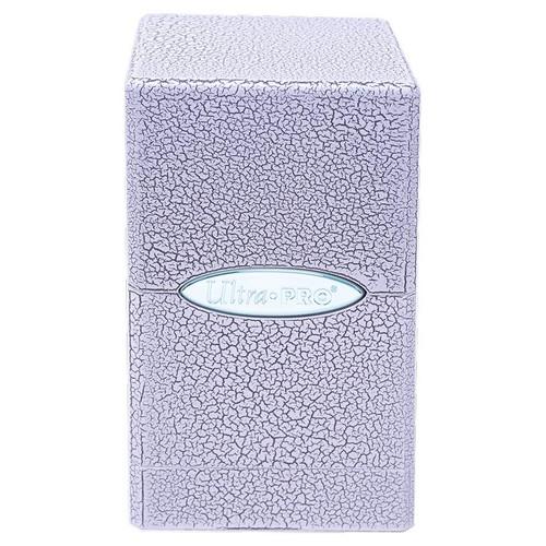 Deck Boxes: Premium Single Dboxes - Satin Tower Deck Box: Ivory Crackle