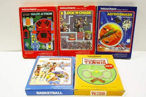 Used Video Intellivision Lot - Astrosmash, Maze-a-tron, Lock N Chase, Tennis [U-B8S2 274147]