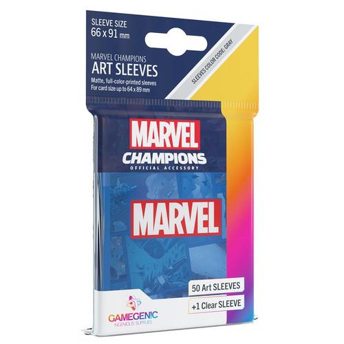 Card Games: Marvel Champions - Marvel Blue Art Sleeves (51)