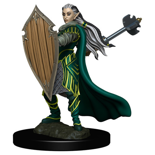 RPG Miniatures: Adventurers - Elf Paladin Female - Icons Of The Realms Premium Figure