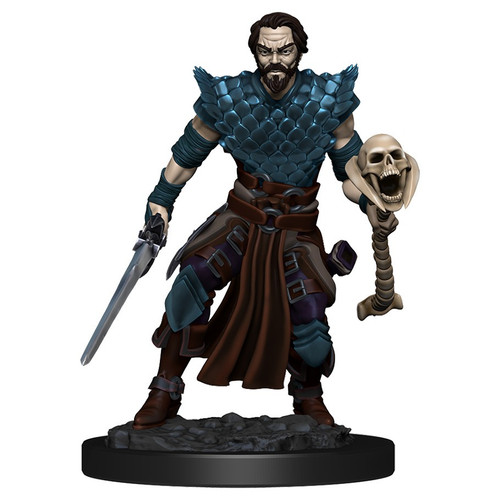 RPG Miniatures: Adventurers - Human Warlock Male - Icons Of The Realms Premium Figure