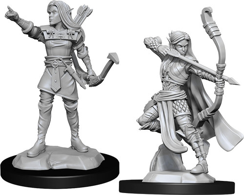 RPG Miniatures: Adventurers - Nolzur's Marvelous Unpainted Minis: Elf Ranger Female