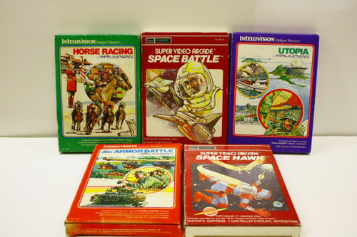 Used Intellivision Lot - Happy Trails, Night Stalker, Roulette, Tennis, Soccer [U-B4S5 274148]