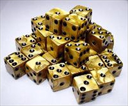 Dice and Gaming Accessories D6 Sets: d6Cube12mmOLY GObk (36)