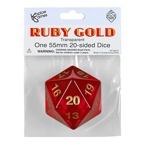 Dice and Gaming Accessories Other Gaming Accessories: D20 55mm Countdown TR RUBYGD