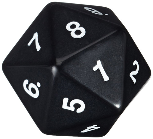 Dice and Gaming Accessories Other Gaming Accessories: d20Single55mm CountdownBK Bagged