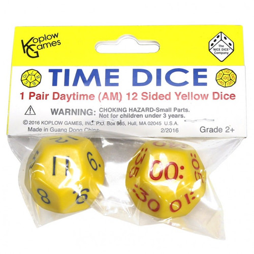 Dice and Gaming Accessories Other Gaming Accessories: Time Dice Daytime Set