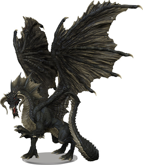RPG Miniatures: Monsters and Enemies - Adult Black Dragon - Icons of the Realms Premium Figure