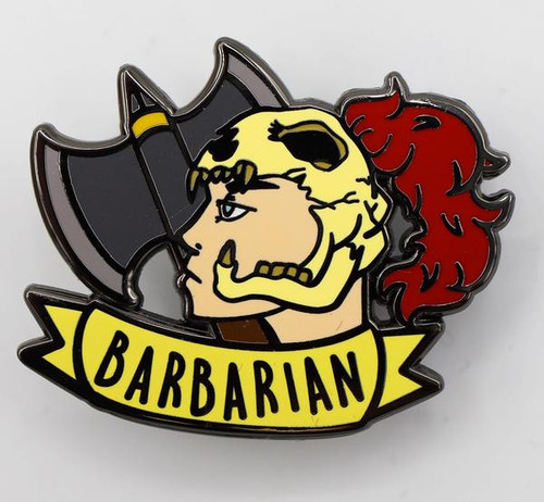 Pins: Banner Class Pin: Barbarian